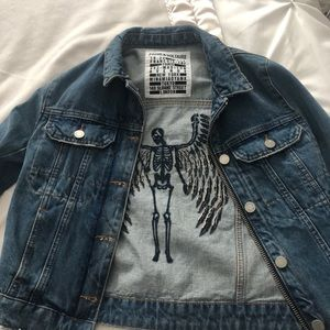 Zadig & Voltaire embroidered denim jacket